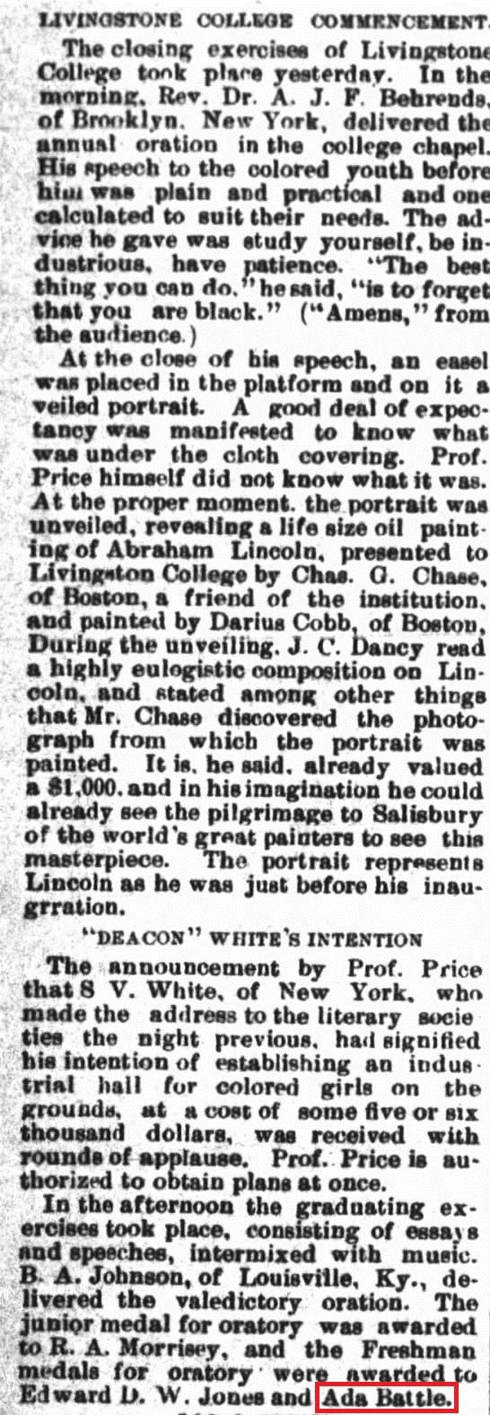 Charlotte Observer 5 30 1890