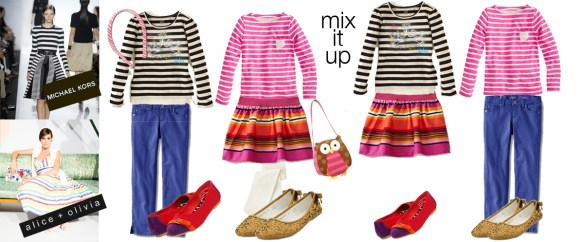 Wardrobe Wednesday: Inspired by New York Fashion Week 2013--Bold Stripes!