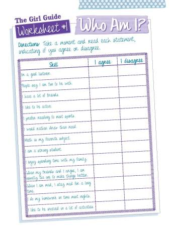 The Girl Guide: Who Am I Checklist