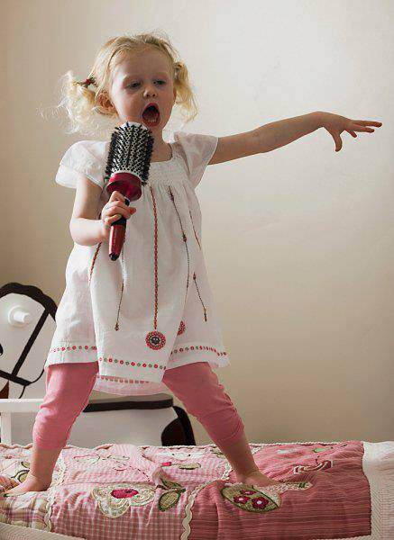 Sing her heart out