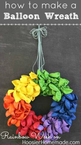 Balloon Wreath posted by Cake It Up   AFancyGirlMust.com