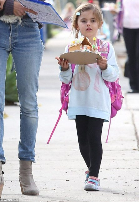 Alessandra Ambrosio's daughter Anja spotted in Wildfox pink perfume sweatshirt | via DailyMail UK