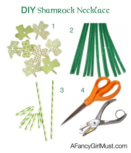 DIY Shamrock Necklace | AFancyGirlMust.com