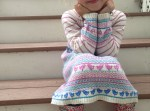 Natural Cashmere Mix Fair Isle Dress by JoJo Maman Bebe USA