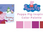 Girls Winter Birthday Color Palette Based on Cartoon Characters