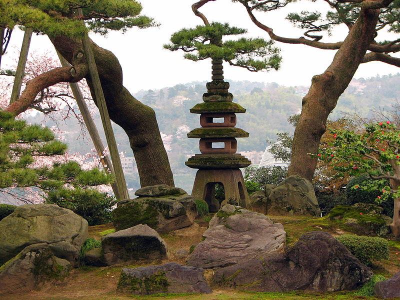 Farol en el jardin kenroku en kanazawa prefectura de for Jardin kenrokuen en kanazawa