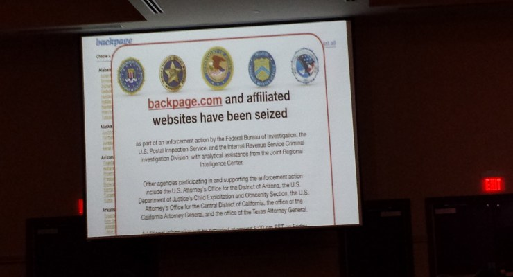 Action Alert – Backpage.com is DOWN