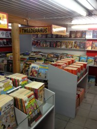 Belgium, home of the comic. This picture shows about 1 tenth of this comic shop, by far the best Ive ever seen. Gonna dig out my Tin-Tin when I get home.