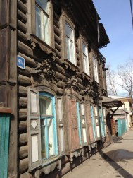 Traditional Siberian wooden architecture... Lots of really impressive woodcraft