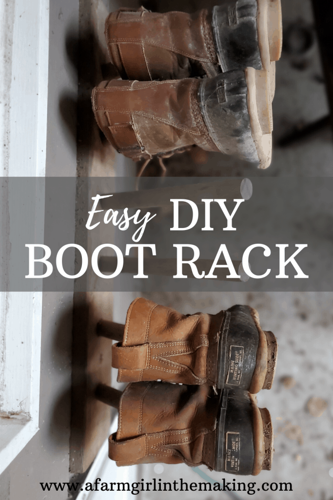 diy boot rack for the porch a farm
