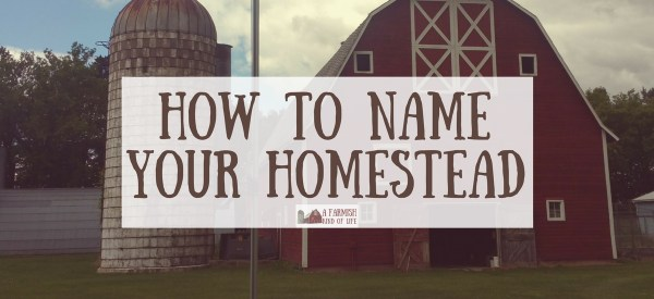 How to Name Your Homestead A Farmish Kind of Life