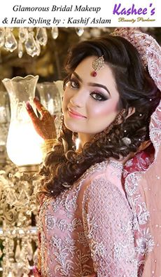 KASHEES Beautiful Bridal Hairstyle Amp Makeup Beauty Parlour