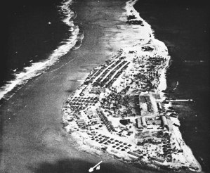 The US Naval Base at Ulithi, in the Western Carolines.