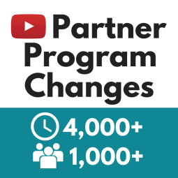 YouTube Partner Program changes