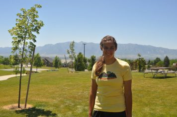 After finishing the Logan Peak Trail Run (28 mi) in Logan, Utah
