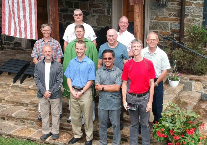 The Catholic Corps men's family missionary community on vacation together