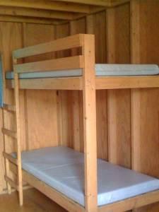 Saint James Field wooden cabin at Catholic Familyland (interior 2)