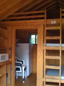 Saint James Field wooden cabin at Catholic Familyland (interior 1)