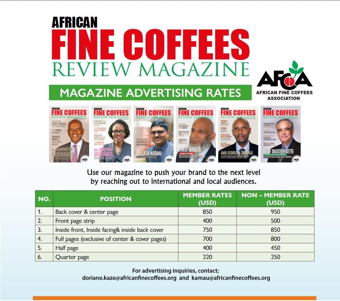 AFCA Magazine Advertising Rates 2020