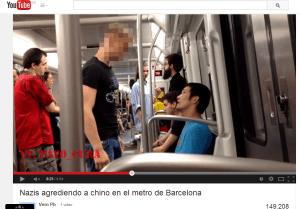 agresion metro