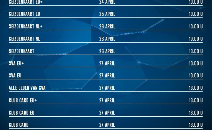 Kaartverkoopinformatie Tottenham Hotspur – AFC Ajax