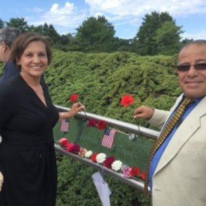 Judi Reiss and Bassem Eid at Garden of Reflection memorial site in Pennsylvania