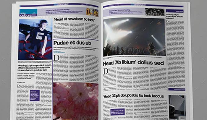 6 Free Indesign Newspaper Templates AF Templates