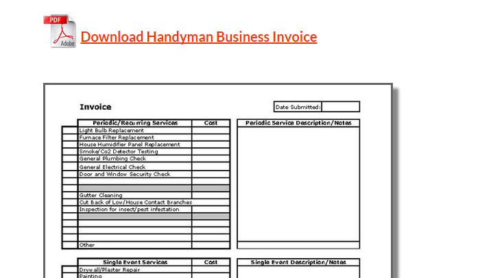 Handyman uses this invoice template to record any cost for the services rendered. 5 Handyman Invoice Template Af Templates