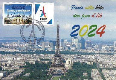 carte postale maximum élection de Paris 2024