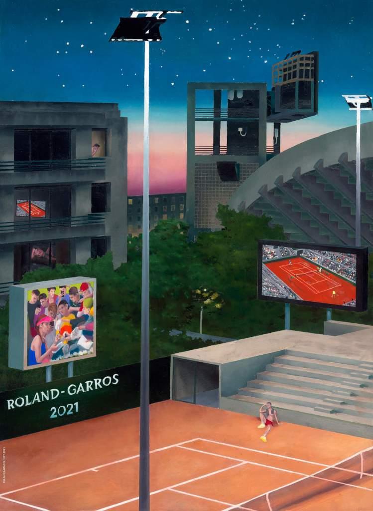 Affiche officielle Roland Garros 2021