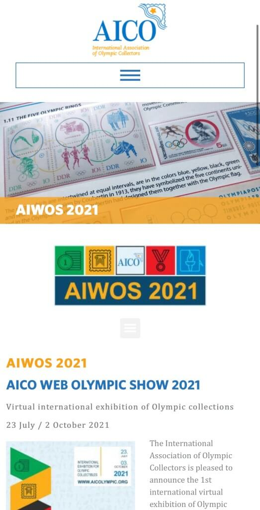 AICO Web Olympic Show inscription
