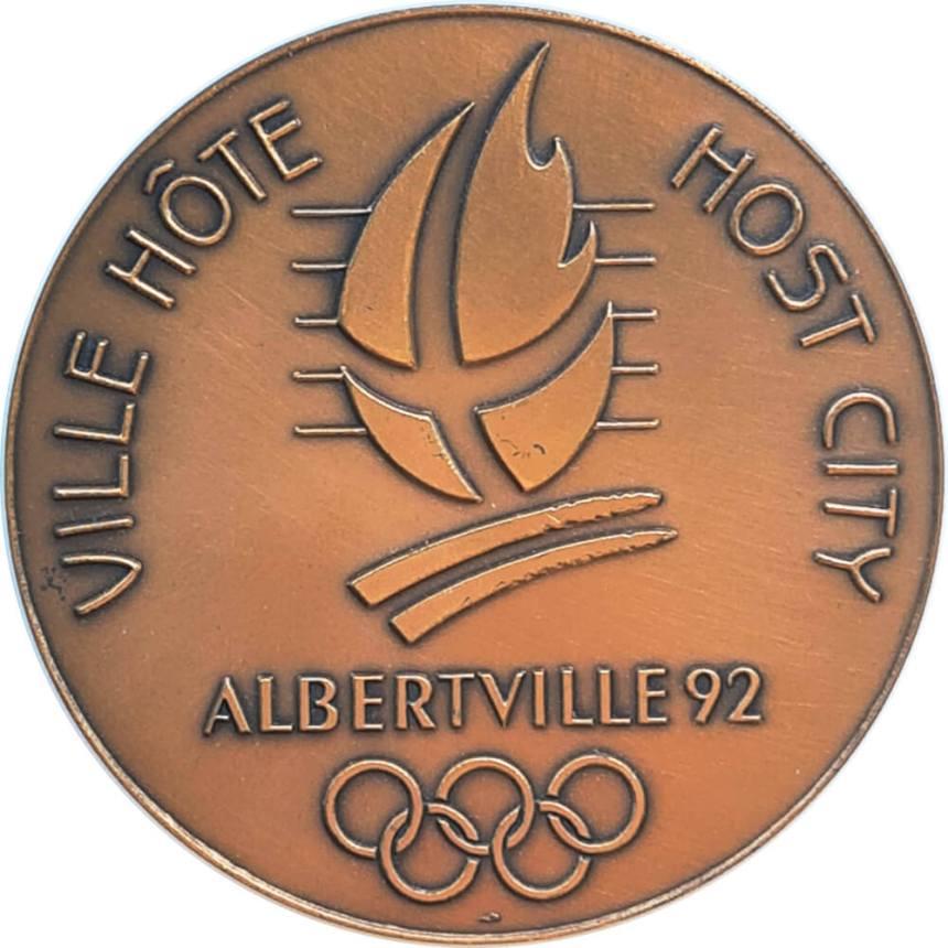 Albertville 1992 logo médaille ville hôte