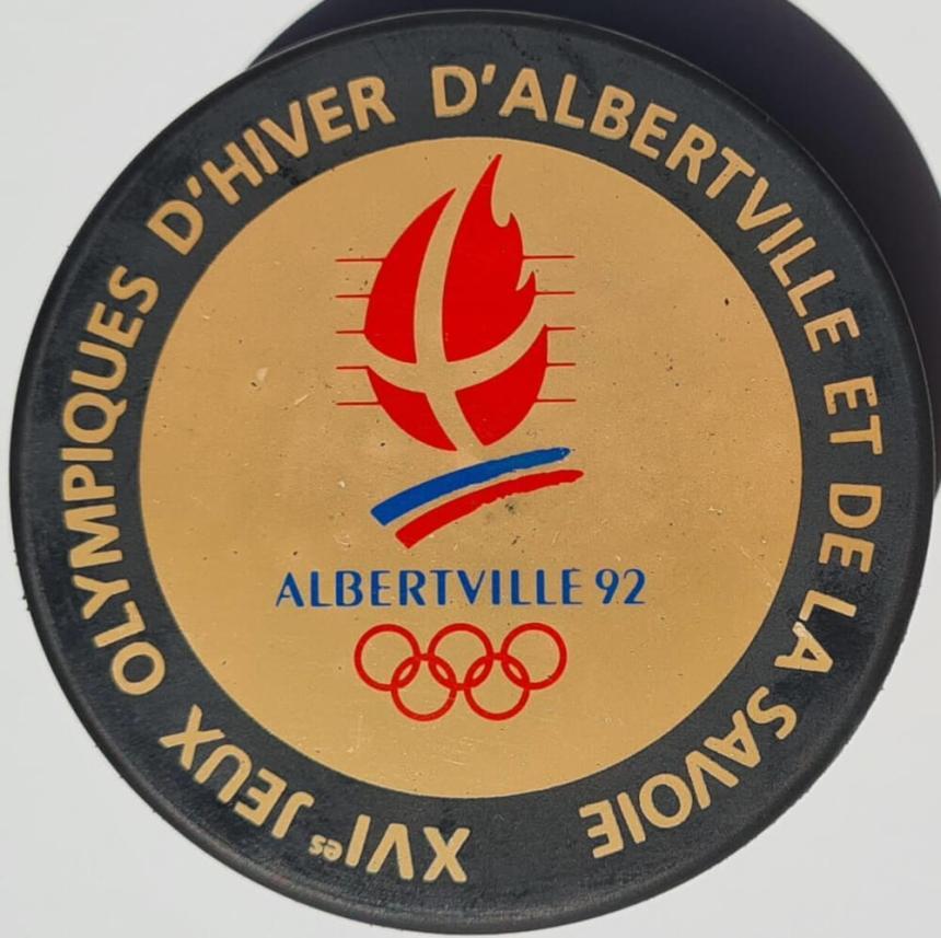 Albertville 1992 logo palet hockey
