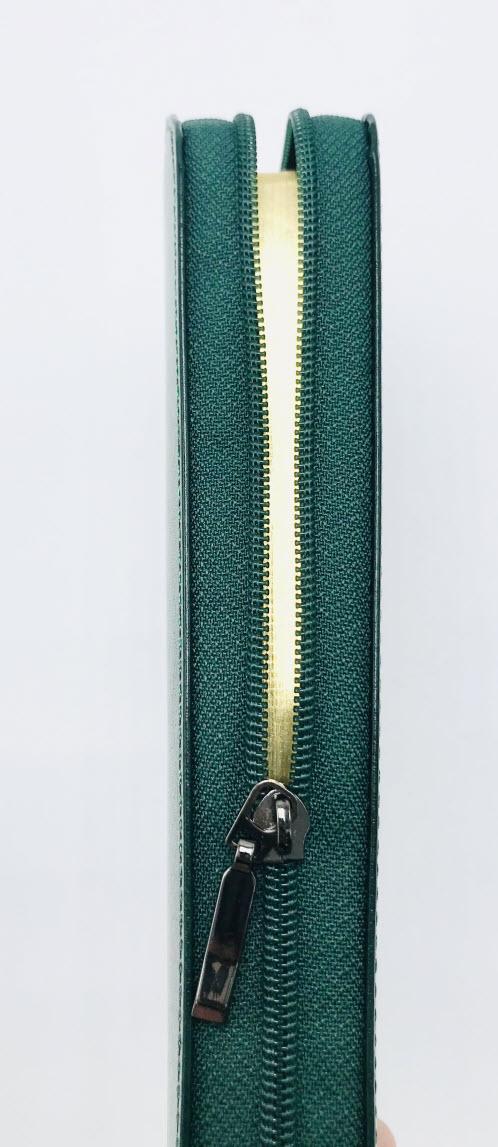 中英聖經-簡體和合本修訂版/NIV-深綠色皮面金邊拉鍊-指印索引袖珍版   0810124Darkgreen