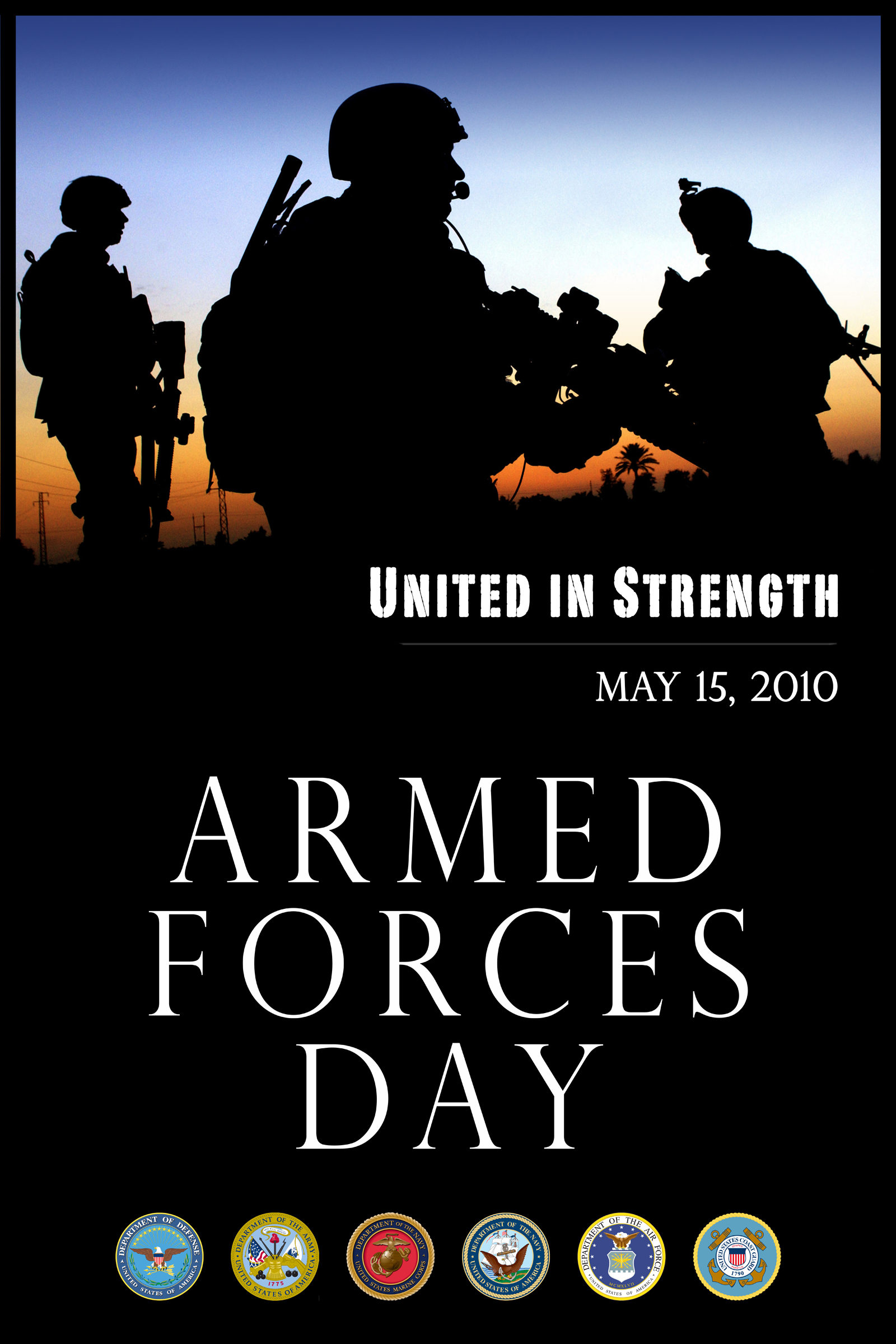 Armed Forces Day 2010 poster