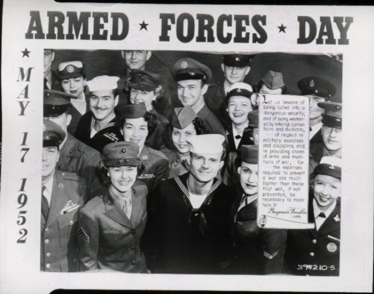 Armed Forces Day 1952, DOD Archives photo