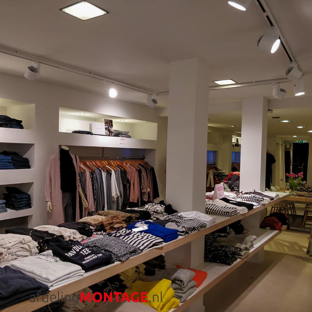 Verlichting kledingwinkel