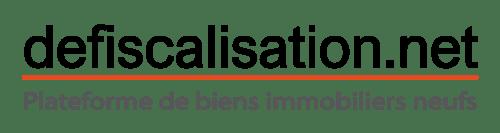 Logo web : defiscalisation.net : plateforme de biens immobiliers neufs