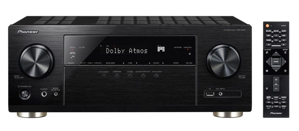 Pioneer VSX-933: Dolby Atmos, DTS:X e Dolby Vision a 599 euro