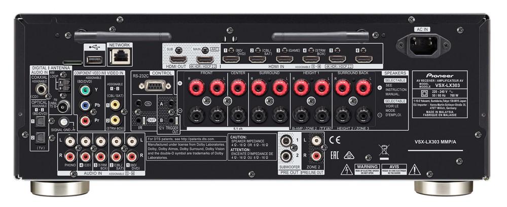 Annunciati i nuovi ricevitori AV Pioneer VSX-LX303 e VSX-LX503
