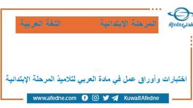 Photo of ملفات هامة عربي لرياض الأطفال والابتدائي في الكويت