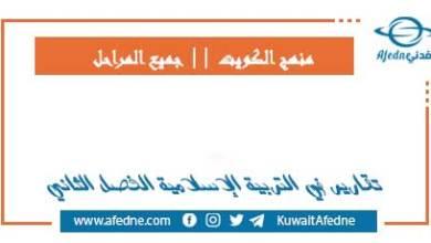 Photo of تقارير إسلامية وقرآن للفصل الثاني 2021