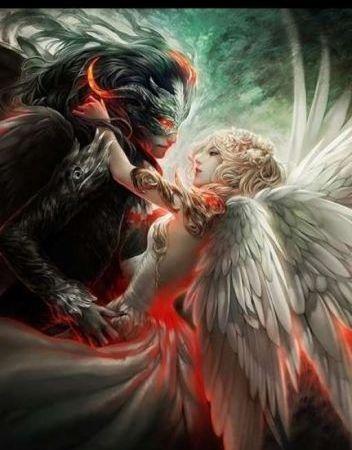 قصة الملاك والشيطان