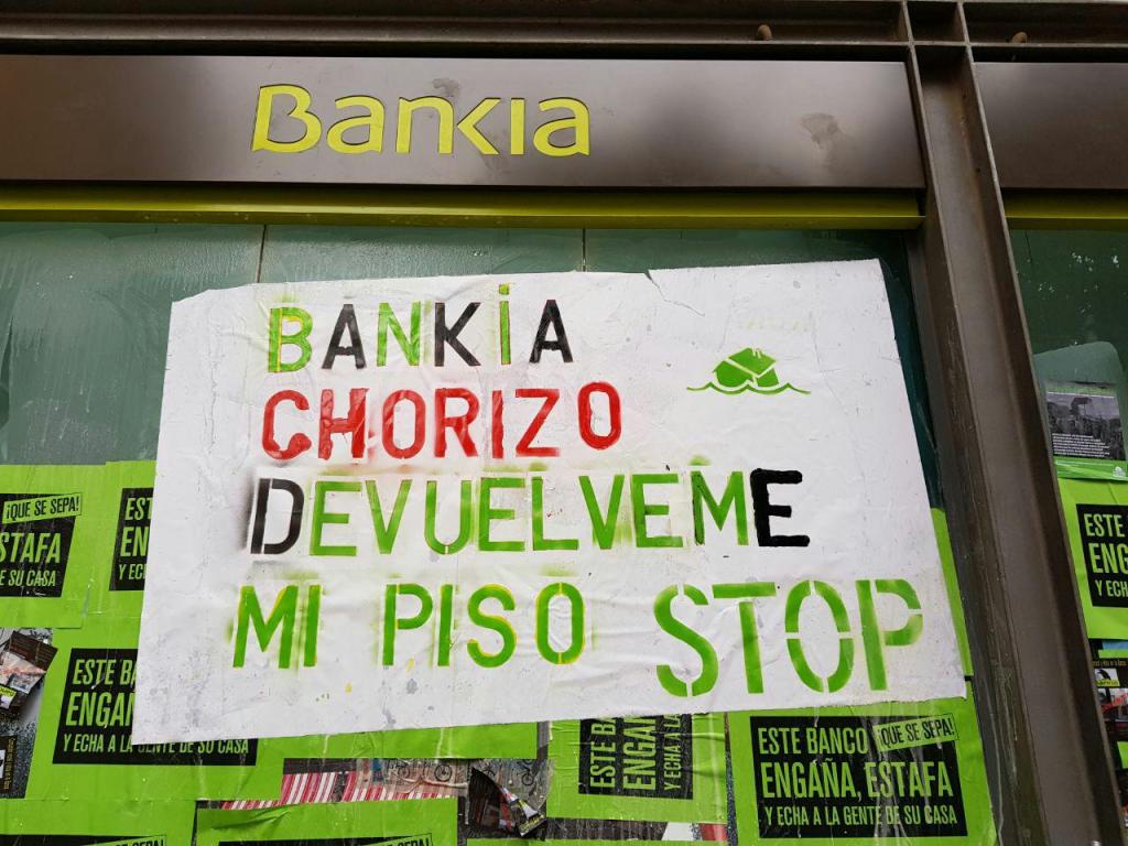 Bankia, la entidad líder en desahucios sigue dando la espalda a laciudadanía
