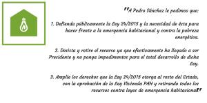 Carta a Pedro Sánchez