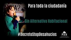 Mayoría social y política a favor del Decreto Stop Desahucios