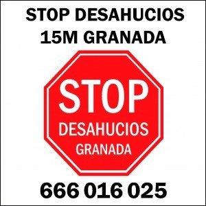 Acción stop desahucios granada 15M