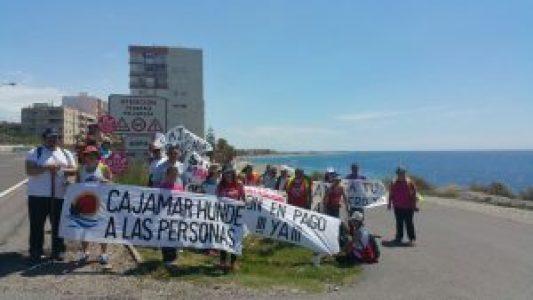 Marcha a Almería. Entrada en Adra