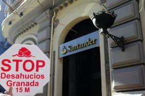 Stop Desahucios Granada en el Santander