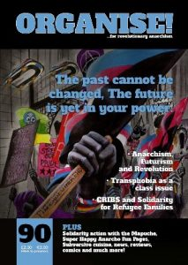 Anarchist Federation magazine Organise issue 90 cover image
